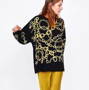 Zara Knit Oversized Sweatshirt